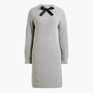 New JCREW Bow-neck Sweater Dress